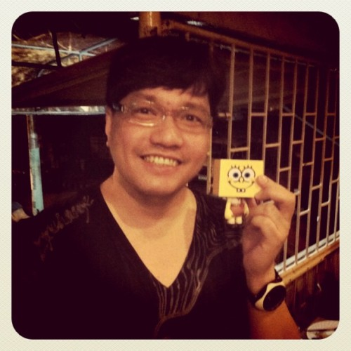 Sponge Bob To-Fu with Direk Wenn V. Deramas (Taken with instagram)