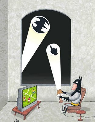 "ramblingsofaninsaneperson:  Titled ""Batman's Day Off"""