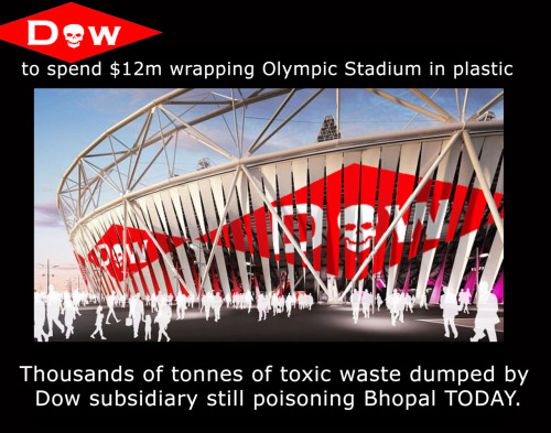 A great photoshop mock-up of how the London Olympic Stadium might look if LOCOG go ahead with the crazy idea of allowing Dow Chemical to supply the nasty plastic 'wrap'.
