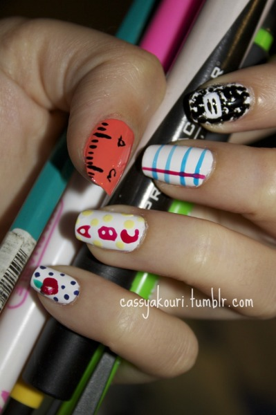 cassyakouri:  Back To School Nails! Click through for the video!!