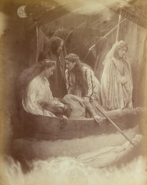 chrissybelle8:  Julia Margaret Cameron. The Passing of Arthur (1875). [Illustration for Lord Tennyson's Idylls of the King.]