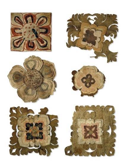 muirgilsdream:  Ancient paper flower offerings found in a Chinese cave.