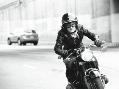 Stacie B. London riding her 1969 BMW R60US photographed by Scott Pommier.