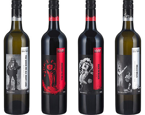 (via New range of Australian wine named after AC/DC hits — Lost At E Minor: For creative people) Who knew AC/DC were vino aficionados? The Australian rockers have just  teamed up with Australian winery Warburn Estate to come out with four of their own wines.  Named after their biggest hits, there's a Sauvignon Blanc called Hells  Bells, a Shiraz called Back In Black, a Cabernet Sauvignon called  Highway To Hell, and a Moscato named after my favourite dance floor  number, You Shook Me All Night Long.