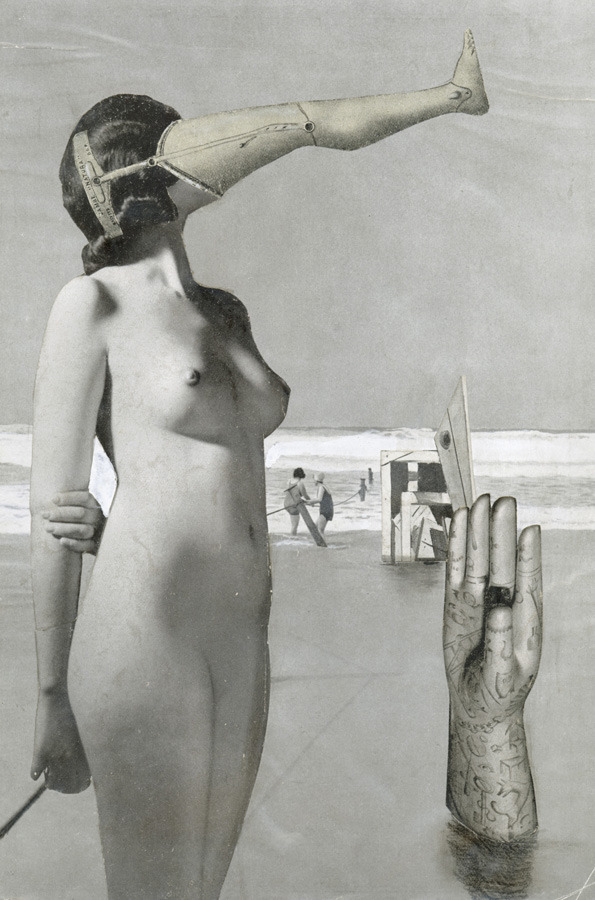 surrealism:  Collage no. 293 by Karel Teige, 1944.