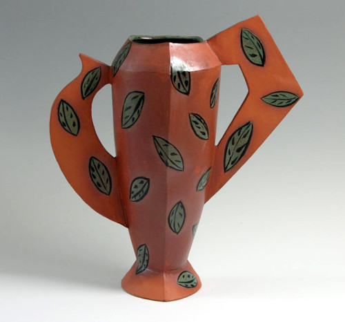 Barbara Fehrs: Faux Pitcher with Leaves #2