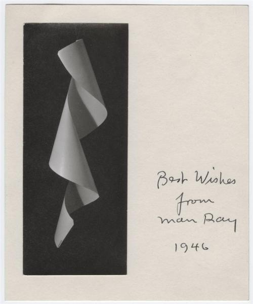 anticipatedstranger:  Best wishes from Man Ray, 1946