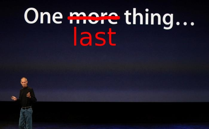 "Bring on the knee-jerk overblown reactions. Apple is dead!! I doubt you'll see a noticeable difference (other than stock price, temporarily) for several years. So much stuff in the pipeline, and Forsthall, Schiller and Ive are pretty capable. Cook is the numbers guy, he'll stay out of the way.  thedailywhat:  Steve Jobs Resignation of the Day: In a letter to the Apple Board of Directors and the Apple community, Steve Jobs announced today that he will be stepping down from his role as CEO. In his letter, Jobs said he can ""no longer meet [his] duties and expectations as Apple's CEO,"" and recommended that Apple appoint COO Tim Cook as his replacement. The board announced that it would, in fact, appoint Cook as CEO, and Jobs would become the Chairman of the Board. Cook will also join the board effective immediately. [yahoo]"