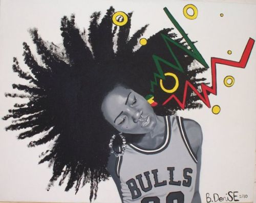 lilmssupanatural:  India Shakur -B.Denise My favorite piece by a young artist from San Diego California