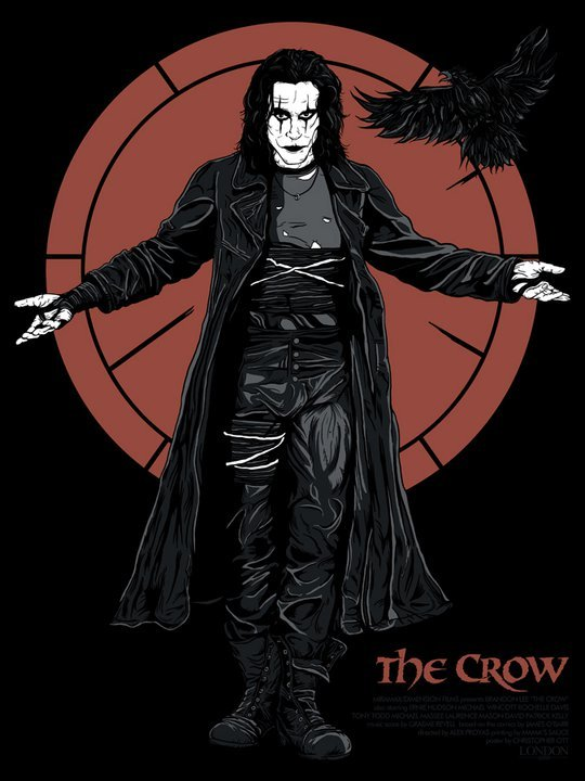 "The Crow by Christopher Ott / tumblr 18"" X 24""  S/N Edition of 200. Print available Friday HERE"