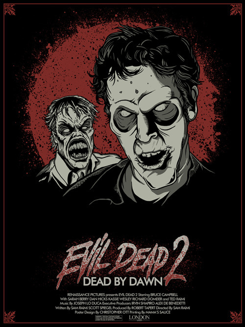 "Evil Dead 2 by Christopher Ott / tumblr 18"" X 24""  S/N Edition of 200. Prints available HERE"