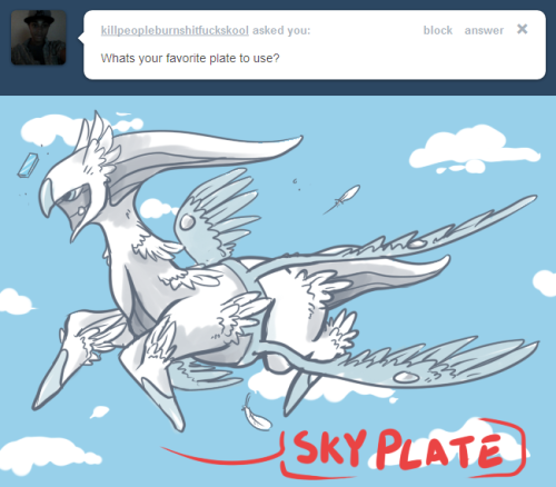 Sky plate has also been done!