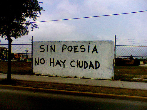 "semifusa:  ""There's no city without poetry"" Acción Poética, Monterrey, NL (by jrsnchzhrs)"