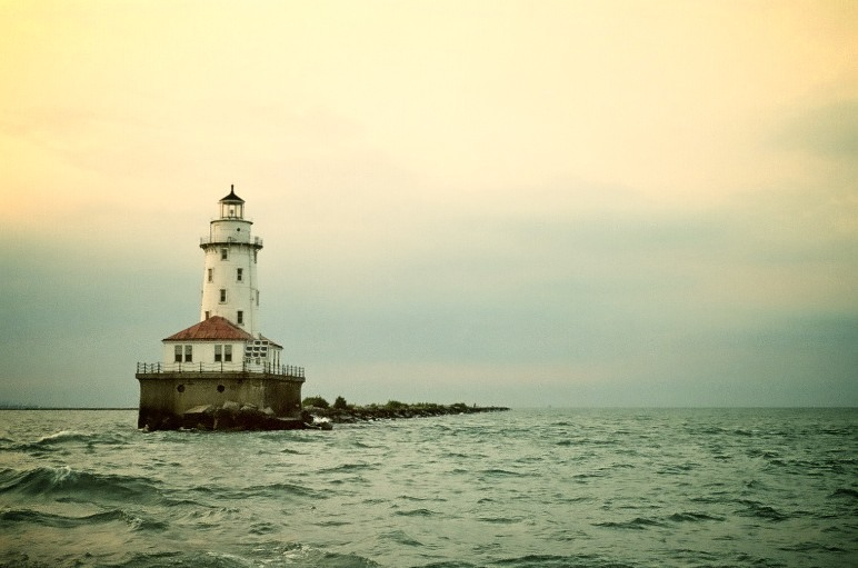 Lighthouse in Lake Michigan (Chicago Harbor) Kodak VC 400 35mm August 2011