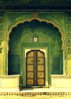 Green Gate (spring).City Palace, Jaipur. India