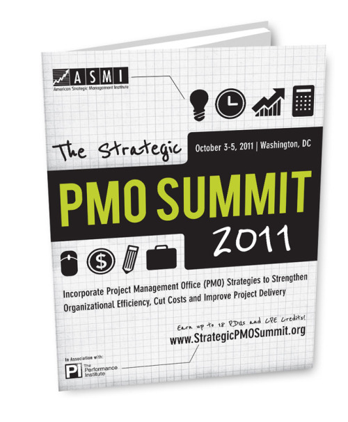 Branding and promotional summit brochure for American Strategic Management Institute—Thompson Media Group.