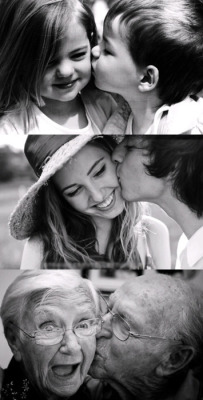 love cute couples adorable Black and White young love old couples