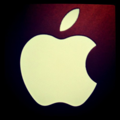 Thank you Steve Jobs! #Apple logo from my MacBook Pro taken w/my iPhone…#epic #design & #products & #ethos (Taken with instagram)