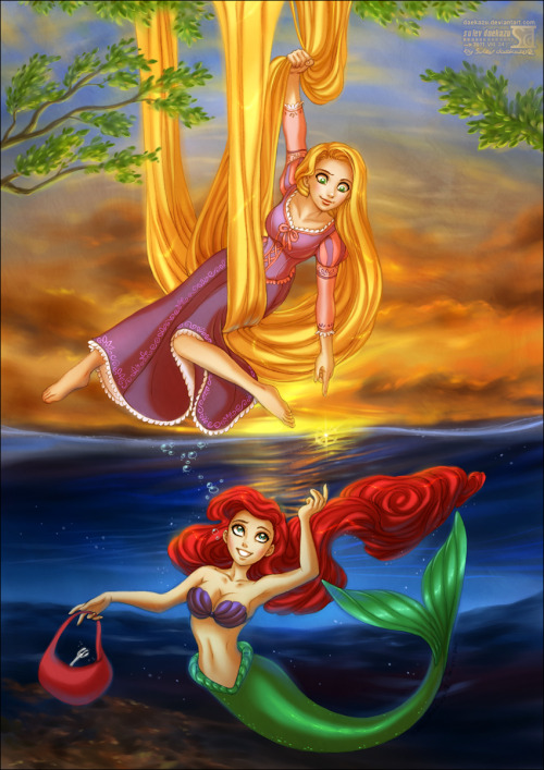 camuizuuki:  my two favourite Disney princesses <3