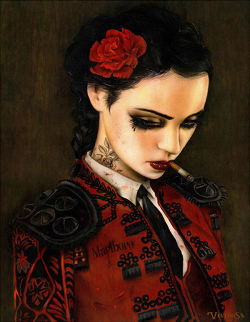 t-squat-magazine:  Paintings by Brian Viveros  I love Viveros's paintings
