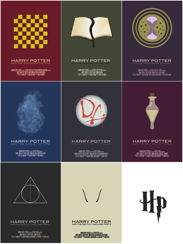 Harry Potter minimal movie poster series by Vincent Gabriele A work in progress…