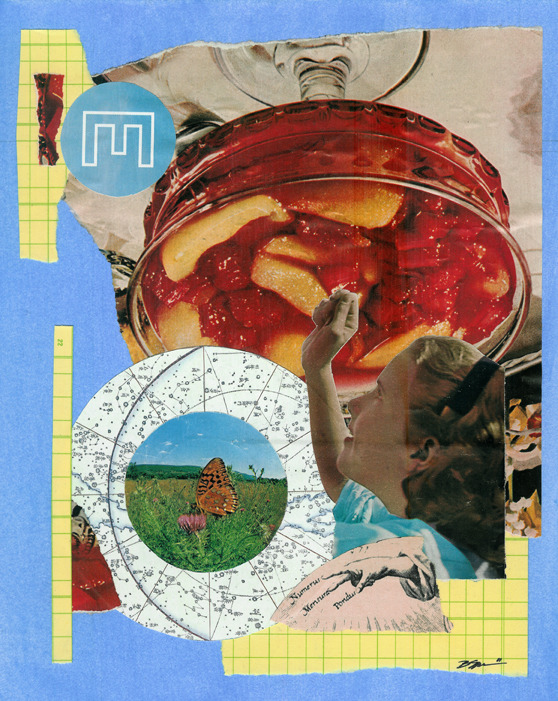 'Occam's Razor' - Collage on Mat Board 2011 http://society6.com/hoopandstick