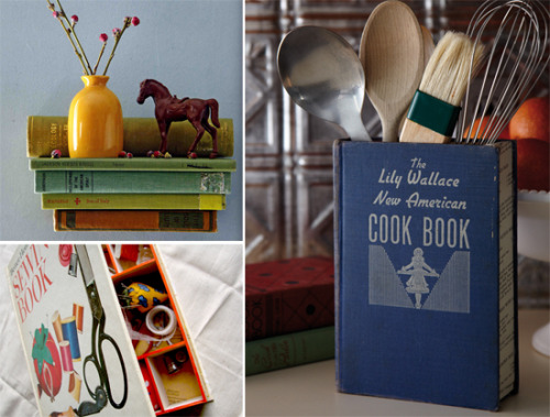 erikaglover:  Brilliant ideas for re-purposing books… (via oh, hello friend: you are loved)