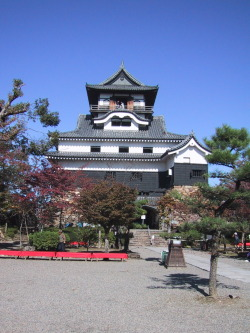 犬山城 (Inuyama Castle) The Inuyama-jo in Inuyama, Aichi is a castle overlooking the Kiso River, which serves as the border between Aichi and Gifu Prefecture. It is one of the 12 castles still existing in Japan that was built before the Edo Period. It is often claimed as the oldest castle in the country. It was the center of power for the Naruse Clan.