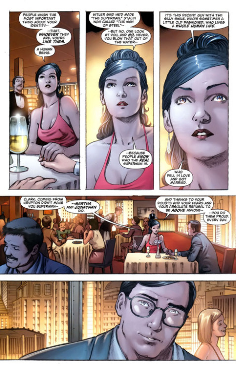 Lois Lane truly is one of the best female comic book characters out there (and my favorite civilian DC character), and this scene where she puts all of Clark's doubts to rest is just so awesome and so her. With Paul Cornell churning out things like this, I'm more than excited for his Stormwatch tenure.
