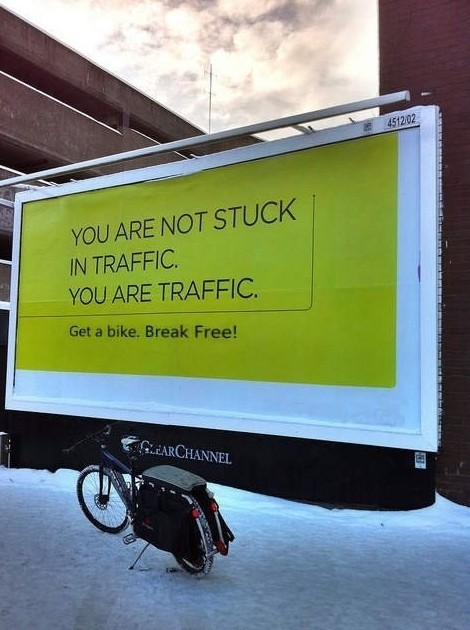 jaymug:  You are not stuck in traffic billboard