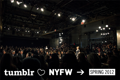 "I am so thrilled to announce that I will be going to New York Fashion Week with Tumblr! The list of bloggers is beyond amazing and I can't wait to meet everyone! It's going to be a fantastic week. Let the outfit planning begin! richtong:  Tumblr #NYFW Spring 2012 We had so much fun last season bringing some of our top fashion bloggers here to New York to cover fashion week that I'm thrilled to announce we're doing it again! Our team spent the past few weeks reviewing each and every one of the hundreds of blog submissions that you all sent in, in search of the most creative people in our fashion community. We were looking for individuals who not only create and curate some of the best content on their respective blogs, but who also recognize this as an opportunity to begin developing their careers within the fashion industry. I'm extremely proud of the 16 amazing individuals whom we chose, as they each contribute unique points of view on womenswear, menswear, beauty, models, personal style and photography.  Joining them are four incredibly gifted people from last season, whose exceptional work speaks for itself. Their collective diversity is a true representation of what I believe the Tumblr fashion community is all about and I hope you all have an opportunity to check them all out. 14 days and counting! Beautiful photo courtesy of Jamie Beck. Girl With CurvesA personal style blog, offering outfit inspiration and shopping tips for the everyday fashionista. The Style StudentFIT student posting photos of what she wears everyday. Opium PoppiesPhotography student, based in Brooklyn, with a knack for putting together vintage inspired outfits. TuulaA personal diary of wanderlust and an overflowing wardrobe. How To Talk To Girls At PartiesA poorly-curated inspiration board for the sartorially inclined. Justin ChungFormer student of public health turned fashion photographer. GawsSelf-proclaimed existentialist hailing from Toronto, who also takes lots of photos. NovhPersonal style & menswear inspiration. AnnamarieProfessional makeup artist and creator of The Daily Face. Karla Powell MUAInternational makeup artist, sharing professional tips and product reviews. High On FlowersA collection of imagery from photoshoots, runway, backstage, advertising and streetstyle. High Like FashionModels from the runway and editorial. EllepaSydney-based fashion photographer, making friends with strangers and together making photo magic. We The UrbanA one-stop daily news source for internet savvy fashion enthusiasts. Closet CollageCollages of the best looks and inspiration from runway collections. History of Chuck""I am like a big hairy Tavi…"" Men In This TownGiuseppe Santamari's street style journal, profiling men with a distinct look in their natural habitat. Paper TissueA mix of photography that inspires Jeannine Tan, as well as work of her own. FarpitzsFarpitzs means ""all dressed up"" in Yiddish. From Me To YouA photography blog by Jamie Beck, co-creator of cinemagraphs."