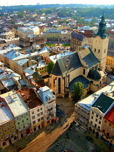 | ♕ |  Cathedral & Town Square - Lviv, Ukraine  | by © Ferry Vermeer