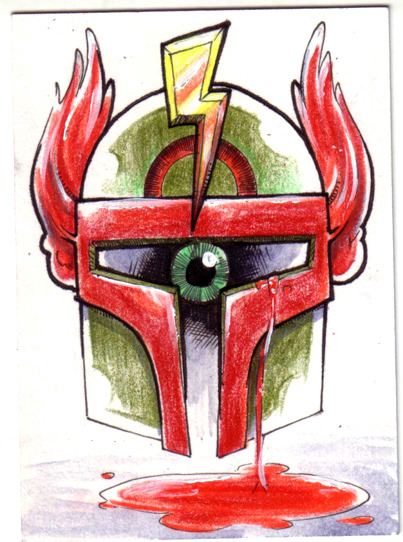 Sketchcard art for an upcoming series.