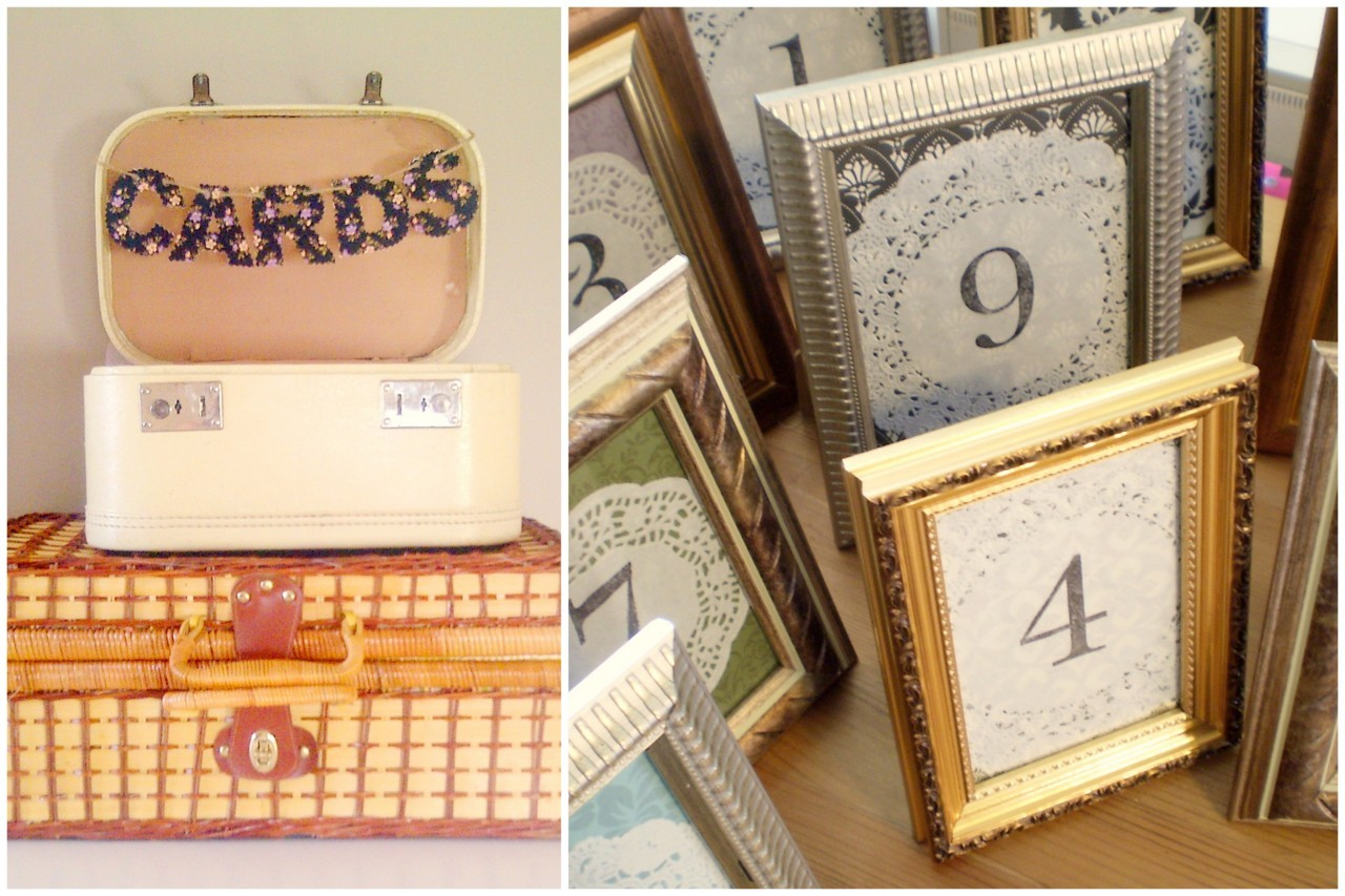ohhhlulu:  Dollar Store & Vintage Wedding Decor