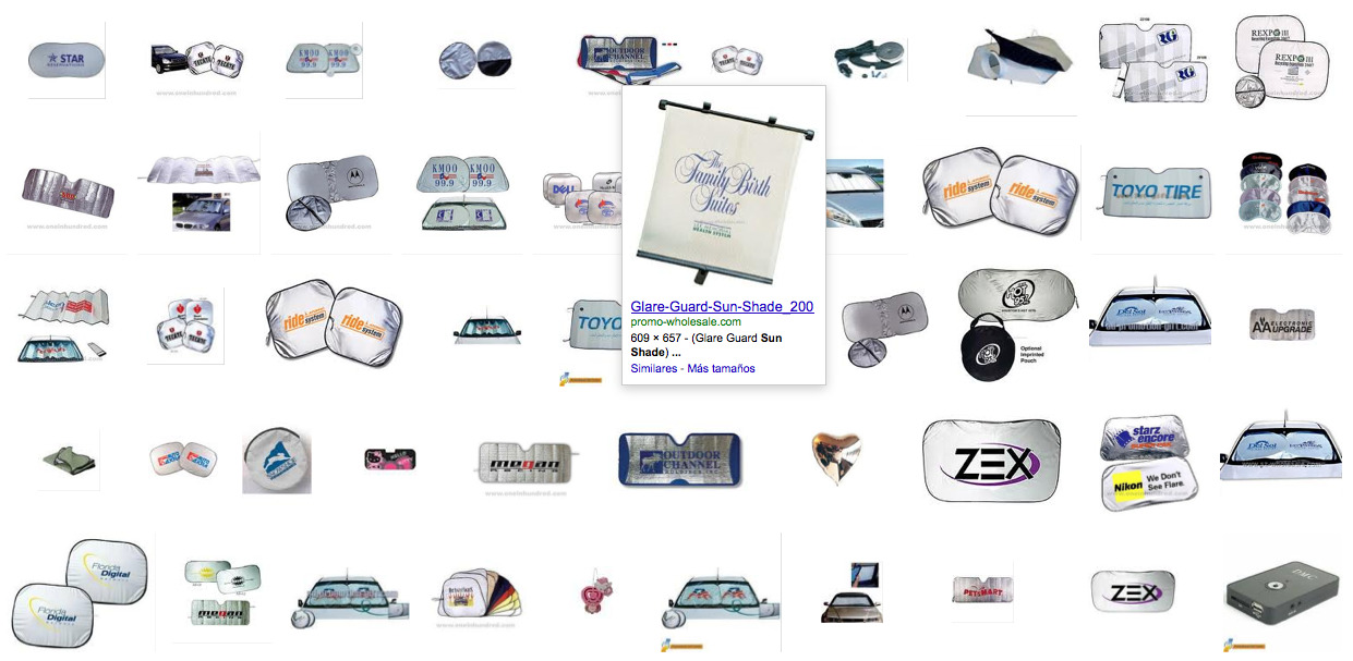 "Visually similar images to ""shade1.JPG"" + ""silver mylar sunshade"". About 95 results. ↗"