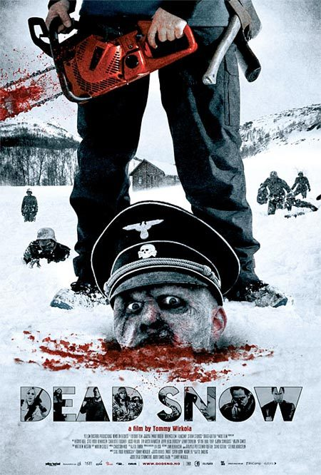 "omnipotentcarrot:  This movie makes me lolZOMBIE NAZIS!  oh god my favorite part was when one of the guys is bit by a zombie in the arm, so he has this long scene showing him cut off his arm. and then after that, a zombie emerges from the snow and bites his dick. and hes all like ""lol nope not doing that"""