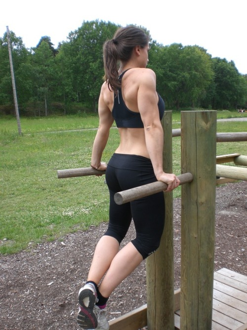 Dips are great but don't lock out your elbows at the top.
