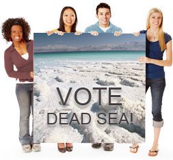 CALLING ALL CANADIANS! SMS YOUR VOTE TODAY FOR THE DEAD SEA IN THE NEW 7 WONDERS OF NATURE CAMPAIGN IN THE FINAL COUNTDOWN   Tomorrow, 26 August, marks the final countdown for the Dead Sea in the finals of the New 7 Wonders of Nature Competition – just 77 days in which to place your vote in this global campaign which ends 11.11.11.   And now, people in Canada can vote by SMS, as well as online.  All you have to do is send the words Dead Sea to 77077 (unlimited voting for the Dead Sea, cost per SMS Can$0.25)  Voting for the Dead Sea can also take place on the internet via the Tourism Ministry's dedicated Dead Sea website (www.votedeadsea.com) or via the campaign website (www.new7wonders.com ).  7 reasons to vote for the Dead Sea as one of the New 7Wonders of Nature The lowest place on earth The saltiest lake in the world The largest natural spa in the world Clear bromide-rich air leaves you feeling relaxed and calm Unique black mineral-rich mud for natural and healthy skincare Healthy, year-round, UVB-filtered sunlight A desert experience, rich in history, archaeology and natural beauty The Dead Sea is the third most visited site in Israel, with half of all tourists including the region in their itinerary. The area has about 4000 hotel rooms. High resolution images available for free download: http://gallery.tourism.gov.il/pages/Main.aspx?Page=1&search=dead%20sea Follow the Dead Sea in social media:  http://www.facebook.com/#!/VoteDeadSea http://twitter.com/votedeadsea http://www.youtube.com/user/VoteDeadSea