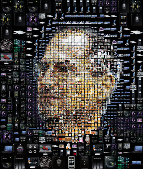 jaymug:  Steve Jobs made of Apple products