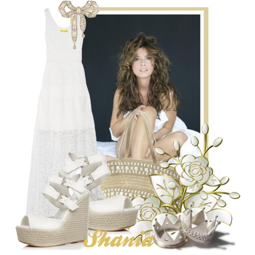 Shania Twain by queenrachietemplateaddict featuring a tiered dress