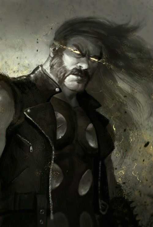 thunt27:  is it me or does he look like Lemmy? Lemmy, The God of Thunder hayleyquinnn:  He's pissed, he's got a hammer, and everyone else is a nail. More Thor: Jer | Skellz | Gold | Lady | Thun | Clash | Mad | Might | Fool | Mew Thor, by Dave Rapoza.