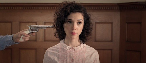 "St. Vincent gets kidnapped by the family from hell in her darkly comic video for ""Cruel"", directed by Terri Timely."