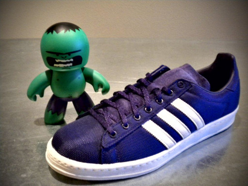 The Incredible Hulk's Kicks (Eggplant Adidas Campus 80's)