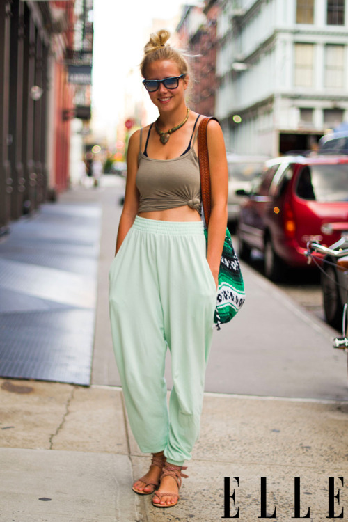elle:  Street Chic: New York Photo: Adam Katz Sinding/Le 21ème Arrondissement