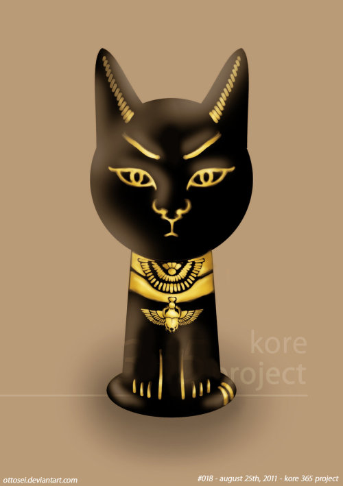 egypt cat by ~Ottosei #018 - august 25th,2011at the first it's was a keyhole, then a cat.. (OnO), cat?!