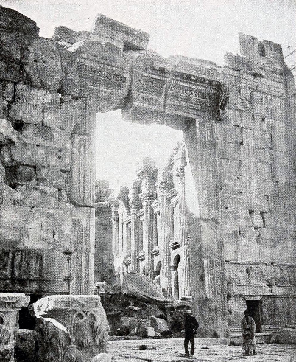 The doorway at the Temple of Jupiter, Baalbek, Syria