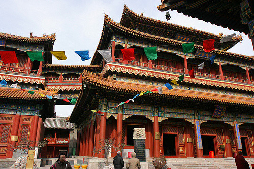 prayerflags:  Lama Temple, Beijing, China
