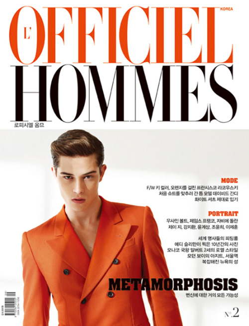 Francisco Lachowski.  L'Officiel Hommes Korea September 2011.  Ph: Kim Hanjun.