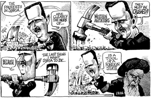 theeconomist:  KAL's cartoon: this week, Western agitators.