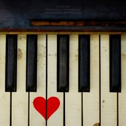 a piano with a heart that's just as breakable as ours